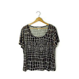 St. John Sport velour velvet textured blouse top